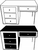table silhouette vector