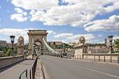 Lion Bridge In Budapest