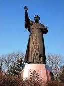 Monument, A Statue Of John Paul Ii At Jasna Gora In Czestochowa