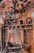 Details of a vintage steam train