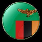 Zambia Flag Button