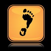 Yellow square icon foot print
