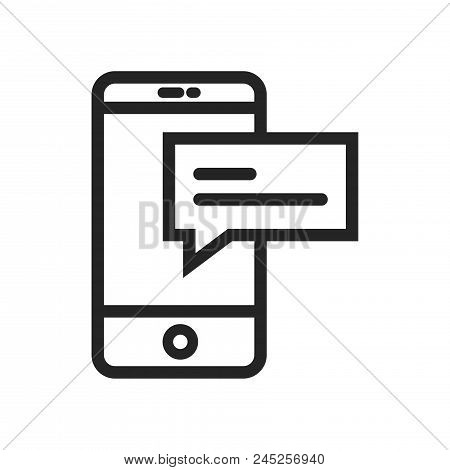 Smartphone And Text Icon Simple