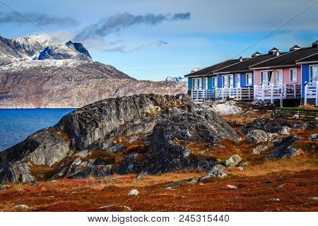 Colorful Inuit Houses Among The