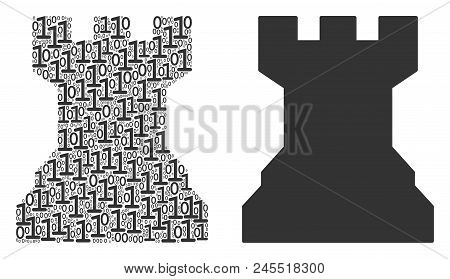 Chess Tower Composition Icon Of