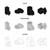 Box, Container, Package, And Other  Icon In Black, Monochrome, Outline Style.case, Shell, Framework, poster