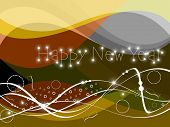 abstract colorful waves, new year elements background for new year celebration