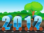 image of upcoming  - vector for upcoming new year 2012 - JPG
