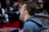 NEW YORK - OCTOBER 21: Chris Martin of Coldplay performs live for the Toyota Concert Series on NBC's