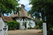 Thatched Rood Cottage In West Sussex, England