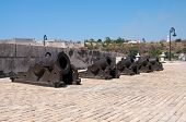 Set of canons in the fortress