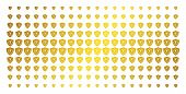 Electric Guard Icon Golden Halftone Pattern. Vector Electric Guard Symbols Are Arranged Into Halfton poster