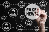 Fake News. Hoax Political Social Network People Concept. Fabricated False Disinformation Technology  poster