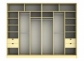 picture of wardrobe  - 3d render of wardrobe on a white background - JPG