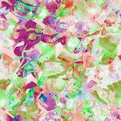Watercolor Ethnic Seamless Pattern. Ikat Colorful Paint Background. Oriental Splash Watercolour Desi poster