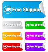 free shipping,rectangular stickers