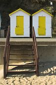 Yellow & White Beach Huts