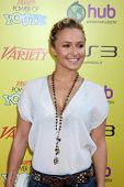 LOS ANGELES - OCT 22:  Hayden Panettiere arriving at the 2011 Variety Power of Youth Evemt at the Pa