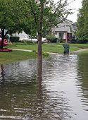 überfluteten Straße