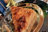 Christmas apple pie with cinnamon