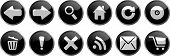 Iconos de Internet gris