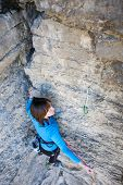 Girl Rock Climber.. poster