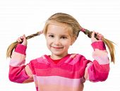 Cute little girl with a plaits