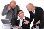 Businessteam In Discussion