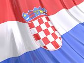 Glossy Flag Of Croatia
