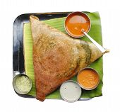 Masala Dosa, Chutney And Sambar