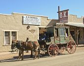 A Stage At The Ok Corral, Tombstone, Arizona