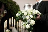 picture of urn funeral  - Religion - JPG
