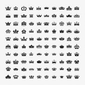 Vector Collection Of Creative King And Queen Crowns Symbols Or Logo Elements. Set Of Geometric Vinta poster