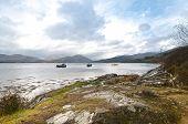 Three Fishing Boats On A Scottish Loch