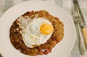 swiss rosti potatoes with a fried egg