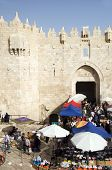 Editorial Shoppers At Damascus Gate Palestine Old City