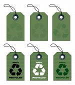Recycled Tags Green