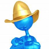stock photo of buckaroo  - A Concept And Presentation Figure in 3D - JPG