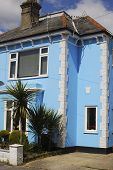 Blue Painted House. Bognor Regis. Uk
