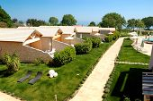 Villas And Lawn At Luxury Hotel, Pieria, Greece