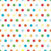 image of dot pattern  - Polka Dots background pattern in bright colors - JPG