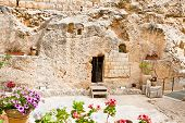 Garden Tomb in Jerusalem, one of two sites proposed as the place of Jesus' burial . Israel