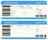 image of boarding pass  - Airline boarding pass tickets - JPG