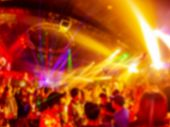 Lights In Club Party.club Party Is Blurred Background poster