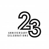 23 Years Anniversary Celebration Vector Template Design Illustration poster