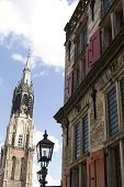 Medieval Town Of Delft In The Netherlands