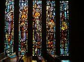 vitrales en la iglesia