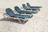 Green Beach Chairs