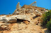 pic of poseidon  - Ancient Greek temple of Poseidon  - JPG