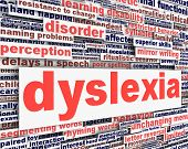 stock photo of dyslexia  - Dyslexia disability message conceptual design - JPG